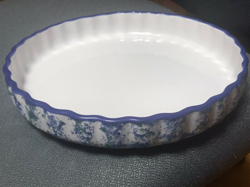 Glossy Ceramic Pie Pan Plate 11 Inches