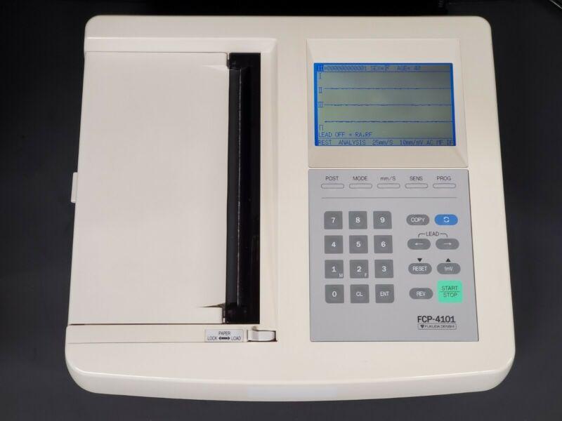 Fukuda Denshi FCP-4101AN Auto Cardiner Electrocardiogram ECG/EKG Analyzer