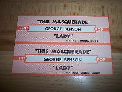 """2 George Benson This Masquerade / Lady Jukebox Title Strips CD 7"""" 45RPM Records"""