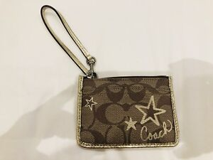 Authentic Coach ID and card Wristlet