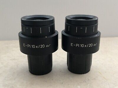 Pair Of Zeiss E Pl 10x 20 Goggles Glasses Microscope Eyepieces 444232