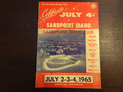 Celebrate July 4th, 1965 Sandpoint Idaho Official Program, Lions Club