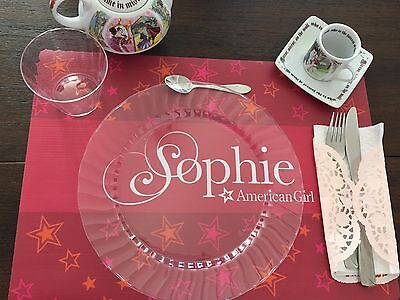 American Girl Tea Party Personalized Placemat Party Table Decoration