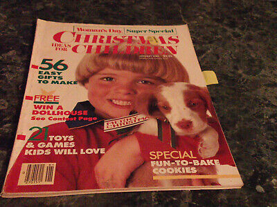 January Crafts For Kids (Woman's Day Christmas Ideas for Children Magazine January 1985 Doll)