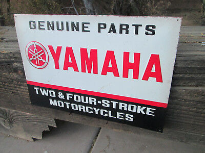 Yamaha Parts Dealer - YAMAHA Genuine Parts Embossed Metal Sign Vintage Cool look motorcycle dealer Qua