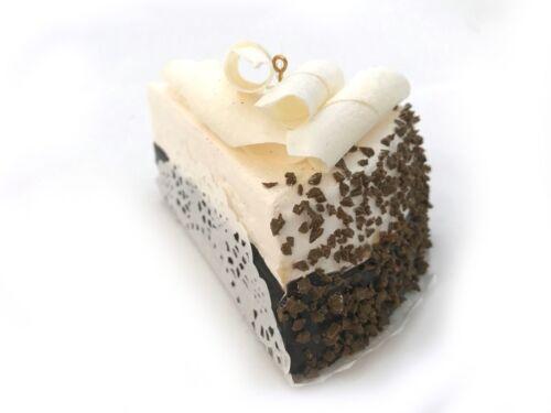 White Chocolate Cake Christmas Ornament Bakery Dessert Slice Fake Food Decor