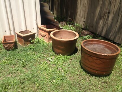 5  Terracotta Garden Pots