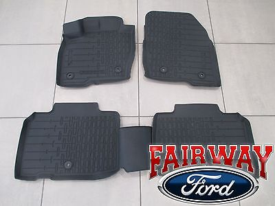 16 thru 17 Lincoln MKX OEM Ford Tray Style Molded Black Floor Mat Set 4-pc NEW