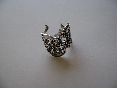 Sterling Silver Filigree Design Wide Ear Cuff Earcuff New - Filigree Design Cuff