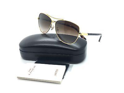 women gold aviator sunglasses hc 7058 3n