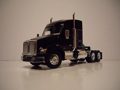 Dcp 1 64 Black Kenworth T880 With 52 Mid Roof Sleeper