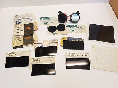 Lot Of Assorted Welding Filter Plates Clear Plastic Plates Shields 2x 4-14