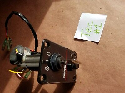 Yamaha Outboard Boat Dash Panel Ignition Key Switch & Wiring