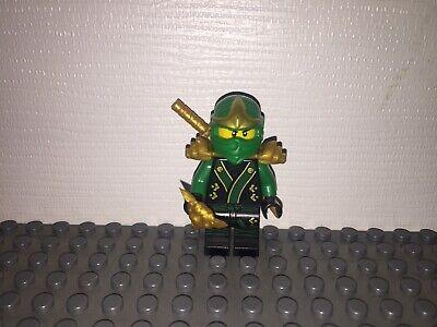 Lego Ninjago Green Ninja Minifig Lloyd ZX  w/Golden Sword