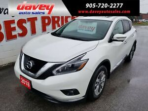 2018 Nissan Murano SL SUPER CLEAN!! AWD, NAVIGATION, SUNROOF
