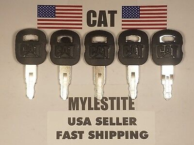 5 Keys Caterpillar Equipment Ignition Key Cat 5p8500 Excavator Paver Dozer