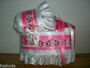 baby minnie mouse girl diaper bassinet baby shower centerpiece table