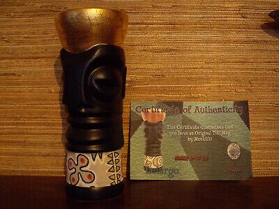 Munktiki Letargo Black/Gold Tiki Mug Hawaii Cocktail Bar 104 of 150 Top Zustand ()