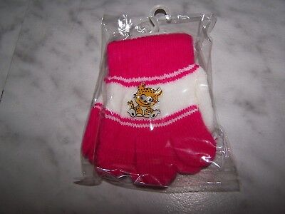 MIO Baby & Toddler Girls Pink & White Winter Gloves (NEW) - White Gloves Toddler