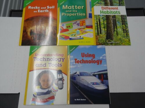 LOT: Set of 5 Pearson Interactive Science Grade 2 On Level Student Readers