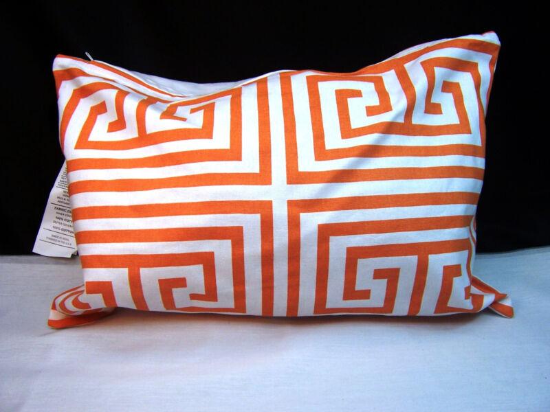 Newport Layton Home Fashions Maze Pillow Slip Case - Zipper Closure Orange