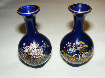 Small Cobalt Blue Chrysanthemum Vase
