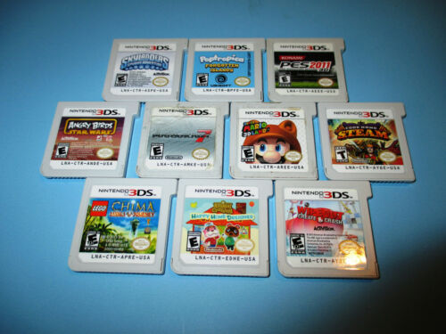 Lot of 10 Nintendo 3DS Games Mario Kart 3D Land Animal Crossing Angry Birds +