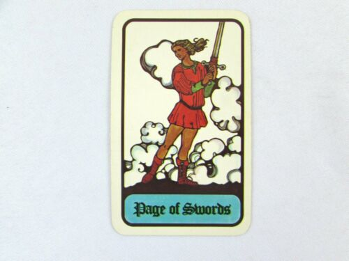 Vintage 1972 Hoi Polloi Tarot *Single Replacement Card* Page of Swords