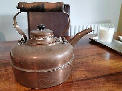Large vintage copper kettle