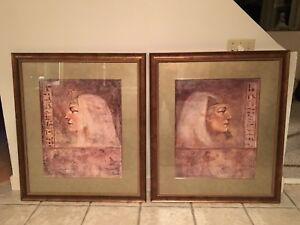 Cleopatra and King Tut Framed Pictures