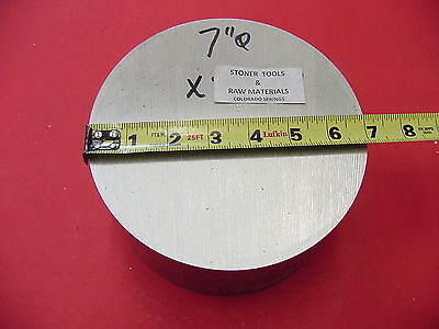 7 Aluminum 6061 Round Rod 5.45 Long T6511 7.00 Diameter Solid Lathe Bar Stock