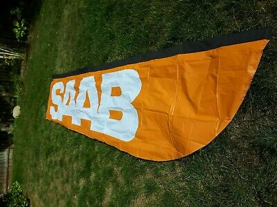 Saab Feather Flag Advertising Pole Sign Upright Banner 190 X 40 Mesh Vinyl New