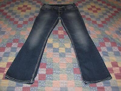 Women's Silver jeans Suki Surplus size 29 x 30 Boot Cut/Wide Leg Flap Pockets Flap Pocket Wide Leg Jeans