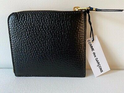 Comme Des Garçons Leather Wallet Model SA3100IC in Black BNIB $130 -33% OFF