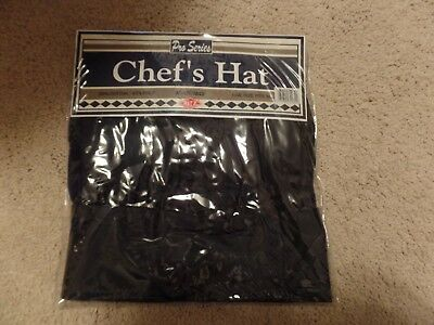 Ritz Pro Series Adjustable Black Chefs Hat One Size Fits All New In Package