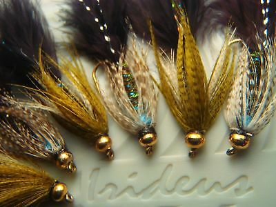 Irideus Blue Dream Mix Soft Hackle Wooly Bugger Streamer flies Trout Fly Fishing - Fishing Soft Hackle Flies