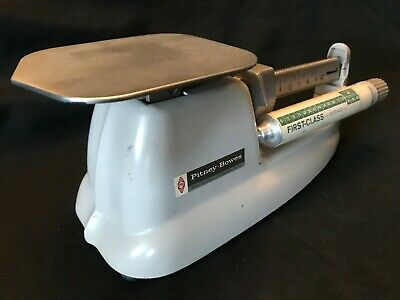 Vintage Pitney Bowes Postage Mail Scale 1974 Airmail 1st Class 3rd Class