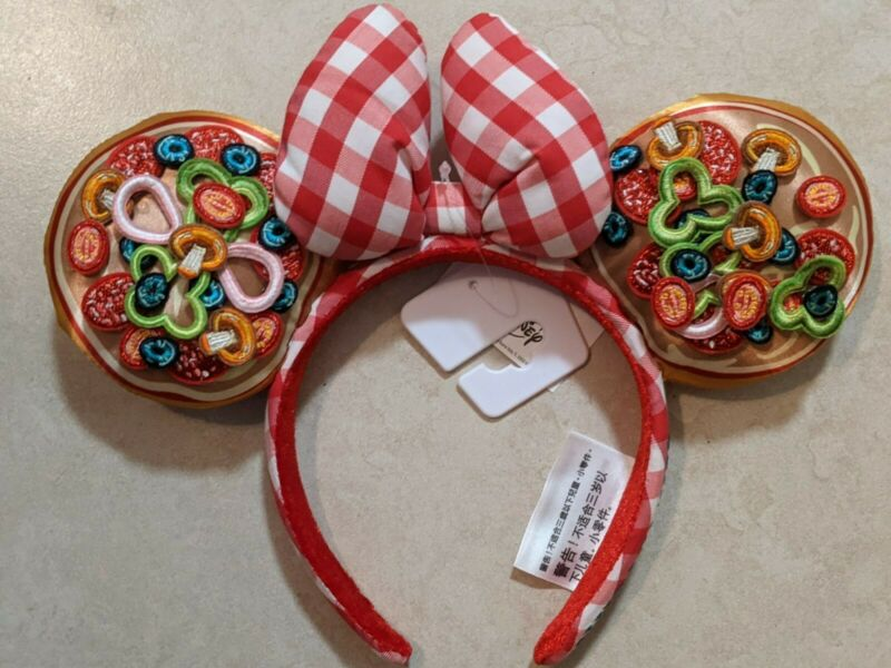 Disney Parks EPCOT Italy Showcase Pizza Minnie Ears Headband New 2020