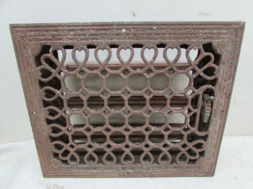 Antique Cast Iron Floor Register Heat Air Flow Vent Grate Architectural Salvage
