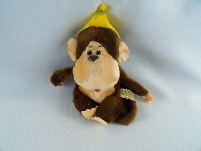 (Vintage Applause Manuel Monkey Plush With Banana Peel Hat 9 Inch)