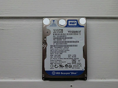 WESTERN DIGITAL WD3200BEVT-22ZCTO 320GB DCM: HACTJBN 2.5 Sata Laptop Hard