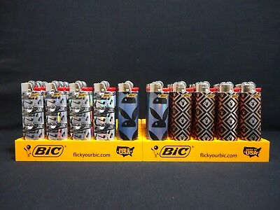 10 Bic Playboy Bunny Lighters Regular Size Disposable Only 3 Designs (See Note) (Playboy Bunny Designs)