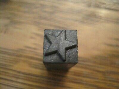 Letterpress Printing Printer Block Press Metal Type Block 5 Point Star