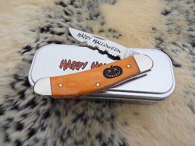 CASE XX *d 2013 HALLOWEEN PERSIMMON ORANGE PUMPKIN CARVER SOWBELLY KNIFE KNIVES
