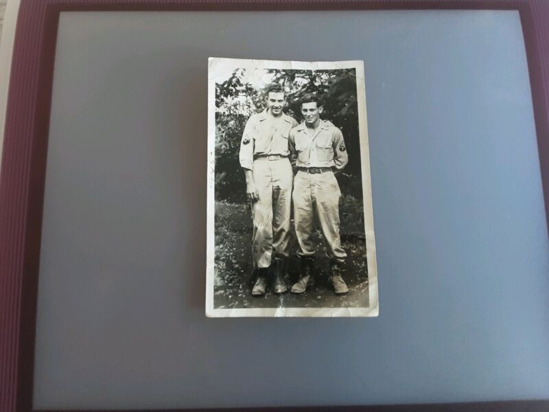 Vintage 1945 Photo Two American Soldiers.