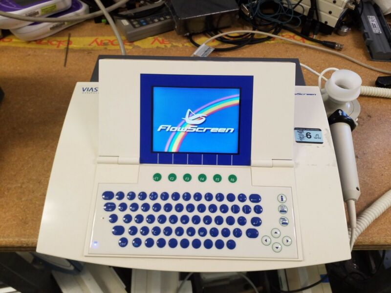 Viasys Flowscreen Color Spirometry unit as pictured working