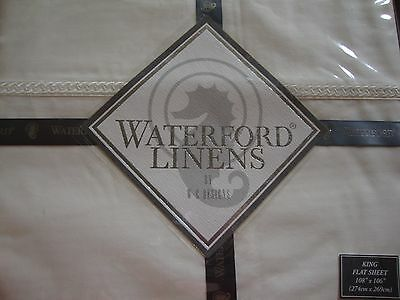 NEW WATERFORD CONLAN IVORY KING FLAT SHEET Waterford Flat Sheet