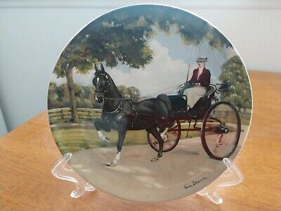"""VINTAGE SPODE """"THE HACKNEY"""" HORSE PLATE by SUSIE WHITCOMBE #2246D for sale  Douglas"""