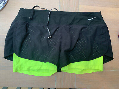 Nike Ladies Running Shorts womens size L With Inner Shorts