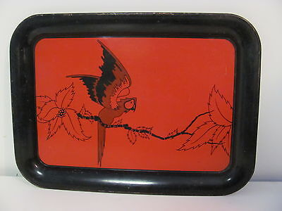 Vintage Red and Black Macaw Bird Serving Tray for sale  Morganton